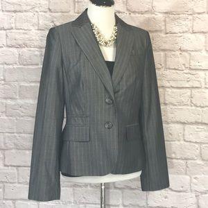 LOFT Gray pinstripe blazer size 8